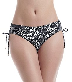 Calvin Klein Side Shirred Snake Print Hipster Bottom