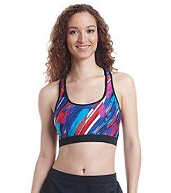 Calvin Klein Printed Sporty Racerback Bikini Top