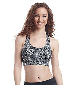 Calvin Klein Snake Printed Sporty Racerback Bikini Top