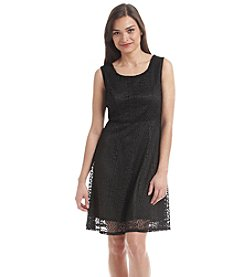 Notations® Petites' Lace Fit And Flare Dress