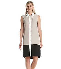 Calvin Klein Colorblock Shirt Dress