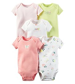 Carter's® Baby Girls' 5-Pack Pretty & Perfect Floral Bodysuits
