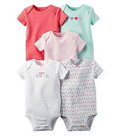 Carter's® Baby Girls' 5-Pack Super Cute Bodysuits