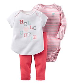 Carter's® Baby Girls' 3-Piece Hello Cutie Set