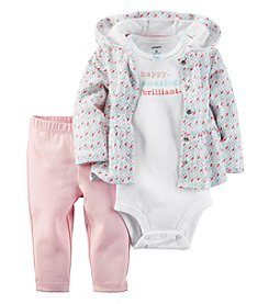 Carter's® Baby Girls' 3-Piece Geo Hoodie Set