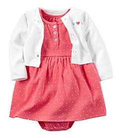 Carter's® Baby Girls' 2-Piece Cardigan And Dress Set