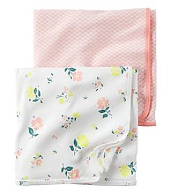 Carter's® Baby Girls' 2-Pack Floral And Geo Swaddle Blankets