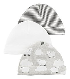 Carter's® Baby 3-Pack Sheep Caps