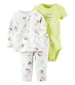 Carter's® Baby Girls' 3-Piece Mommy Loves Me Floral Set