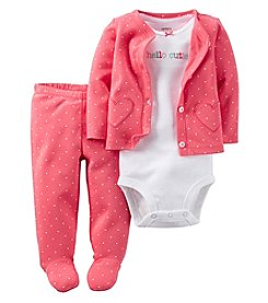Carter's® Baby Girls' 3-Piece Hello Cutie Polka Dot Set