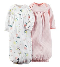Carter's® Baby Girls' 2-Pack Floral And Geo Gowns