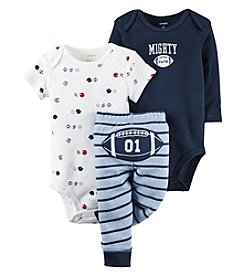 Carter's® Baby Boys 3-Piece Mighty Cute Football Set