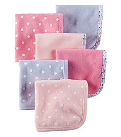 Carter's® Baby Girls' 6-Pack Polka Dot Washcloths