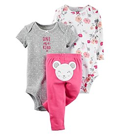 Carter's® Baby Girls' 3-Piece Floral Mouse Set