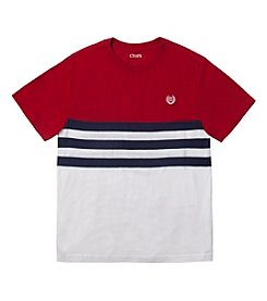 Chaps® Boys' 8-20 Short Sleeve Striped Tee