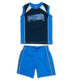 PUMA® Boys' 2T-4T 2-Piece 3-D Muscle Tee and Shorts Set