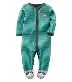 Carter's® Baby Boys Striped Raccoon Footie