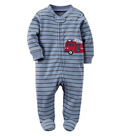Carter's® Baby Boys Striped Firetruck Footie