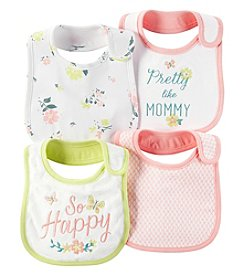 Carter's® Baby Girls' 4-Pack Pretty Floral Bibs