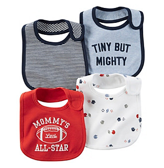 Carter's® Baby Boys 4-Pack Sports Bibs