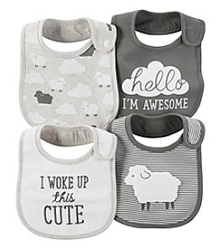Carter's® Baby 4-Pack Clouds & Sheep Bibs