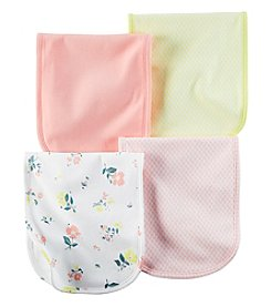 Carter's® Baby Girls' 4-Pack Floral Burp Cloths