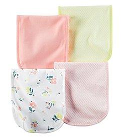 Carter's® Baby Girls' 4-Pack Floral Burp Cloths