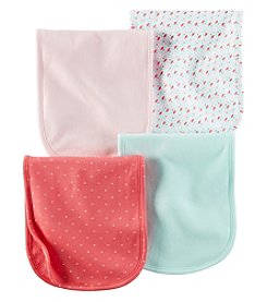 Carter's® Baby Girls' 4-Pack Geo Burp Cloths