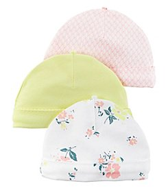 Carter's® Baby Girls' 3-Pack Floral Caps
