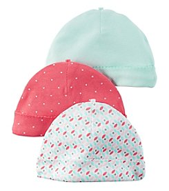Carter's® Baby Girls' 3-Pack Geo Caps