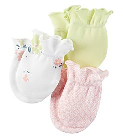 Carter's® Baby Girls' 3-Pack Floral Mittens