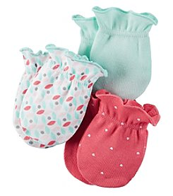 Carter's® Baby Girls' 3-Pack Geo Mittens