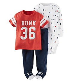 Carter's® Baby Boys' 3-Piece Sports Footed Set