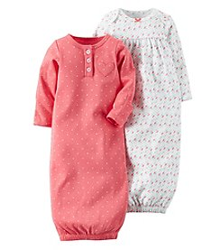 Carter's® Baby Girls' 2-Pack Geo Gowns