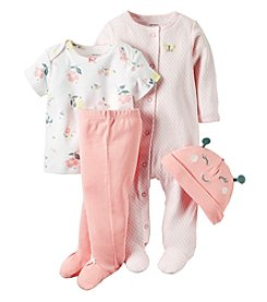 Carter's® Baby Girls' 4-Piece Floral Bug Set