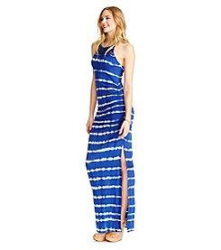 Jessica Simpson Tie Dye Stripe Maxi Dress