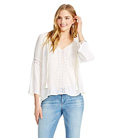 Jessica Simpson Solid Peasant Blouse