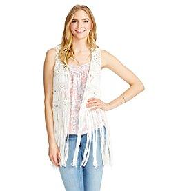 Jessica Simpson Fringe Vest