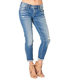 Silver Jeans Co. Skinny Boyfriend Destructed Jeans