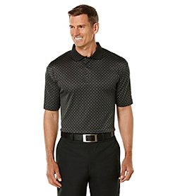 Jack Nicklaus Men's Performance Harbor Town Geo Print Solid Polo Short Sleeve Shirt