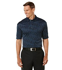 Jack Nicklaus Men's The Bears Paw Foliage Print Short Sleeve Polo