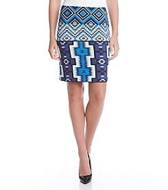 Karen Kane® Geometric Printed Skirt