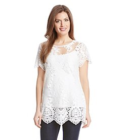 Karen Kane® Embroidered Lace Tunic
