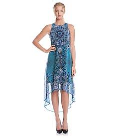 Karen Kane® Sheer High Low Dress