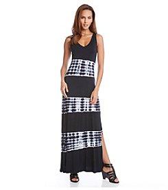 Karen Kane® Tie Dye V-Neck Maxi Dress