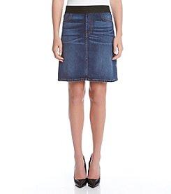 Karen Kane® A Line Vintage Denim Skirt