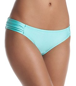 Jessica Simpson Shiny Side Shirred Hipster Bottom