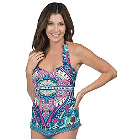 24th & Ocean Bermuda Maze Handkerchief Tankini Top