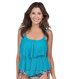 24th & Ocean Connect-The-Dots Tiered Tankini Top