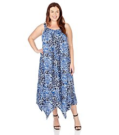 Lucky Brand® Plus Size Floral Print Maxi Dress